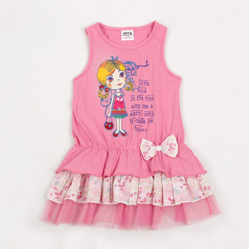 girls clothes baby girls dress girl summer style cartoon princesse clothing cotton lace kids dresses for girls 2016 new H3802 чехол для сотового телефона interstep armore для nokia 5 blue har no00005knp1109ok100