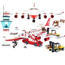 GUDI Block City Large Passenger Plane Airplane Block 856+pcs Bricks Assembly Boys Building Blocks Educational Toys For Children