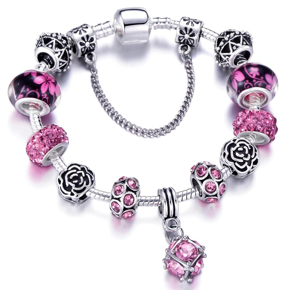 European Plated Silver Snake Chain Link Bracelets Fit Original Pandora Bracelets For Women Charm Bracelet Dropshipping цены