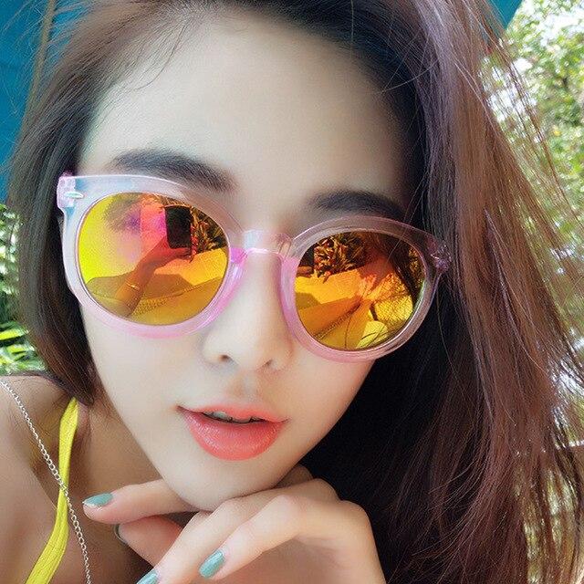 2017 New Transparent Women Sunglasses Big Round Frame UV400 Vintage eyeglasses frames for Women 9711