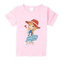 kids Cartoon T-shirt For Girl Tees Summer Short Sleeves Boys Tops Teen Clothes Kids Shirts