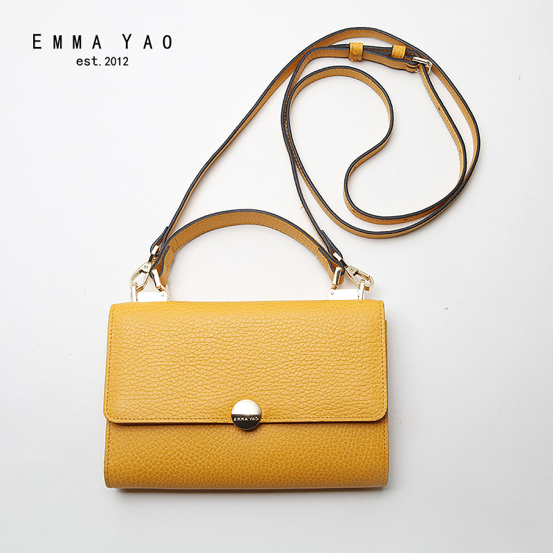 EMMA YAO genuine leather women messenger bags fashion crossbody bag famous brand women bag emma yao leather women bag fashion korean tote bag new designer women messenger bags