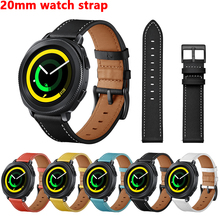 Genuine Leather strap for samsung galaxy watch active/42mm sport Gear S2 classic 20mm watch strap smart watch Bracelet SM-R500 bemorcabo gear s2 classic gear sport band 20mm silicone watch strap for samsung gear s2 classic sm r732 r735 gear sport sm r600