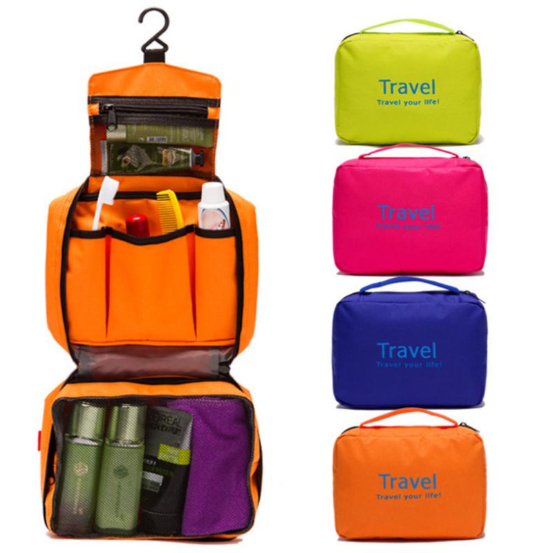 Foldable Cosmetic Portable Travel Bag Organizer Bag Luggage Compression Pouches Red Multifunctional Bag