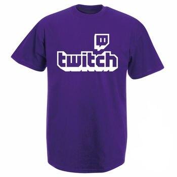 Twitch tv t-shirt-Purple игровой Топ Мужская футболка «геймер» Fathers Day Fan Gifts с коротким рукавом pride men women Unisex t shirt Бесплатная доставка
