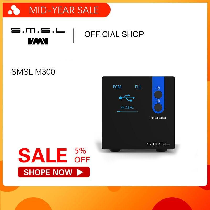 SMSL M300 AK4497 Áudio DAC Decodificador de Alta Fidelidade Nativa DSD512 PCM768kHz USB Optical Coaxial Saída de Linha de Entrada Balanceada Preto Azul Vermelho