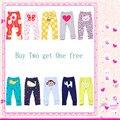Nova Chegada da primavera 2015 outono carta calças do bebê meninas meninos animais bordados de algodão calças infantis produtos para bebés