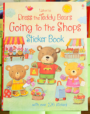Going to the Shops  Sticker Book  children sticker books English children's picture book baby gift ultimate sticker books dog