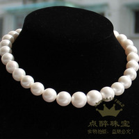 Send my mother a little drunk 12 15mm round large particles of natural pearl necklace light