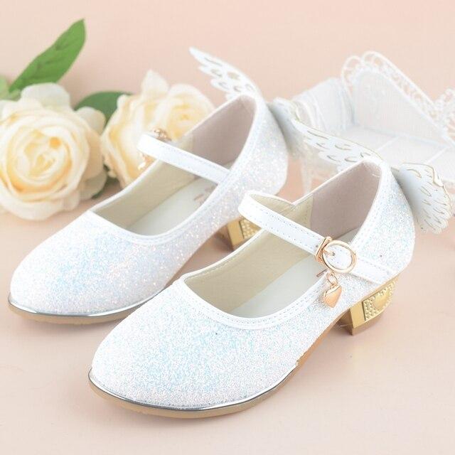 dc4f7a5dde0 qloblo Spring Summer Girls Princess Shoes Children Wedding Sandals  Butterfly Dancing Kids High Heels dress Shoes 4~10Y