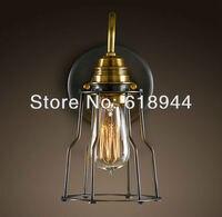 ÜCRETSIZ KARGO toptan decerative bakır E27 taban vintage duvar lambaları edison akkor ışık yatak odası lambası retro lamba