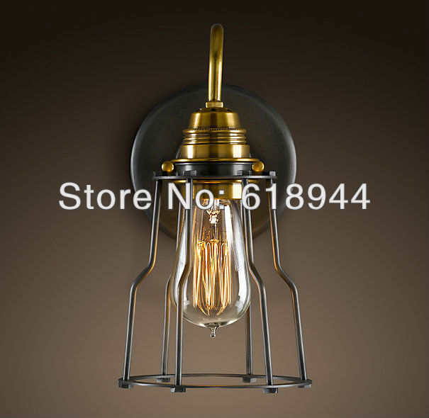 FREE SHIPPING wholesale decerative copper E27 base vintage wall lamps with edison incandescent light for sale 2013 antique outdoor lighting for wall decerative wall light with edison light bulb vintage wall lamps
