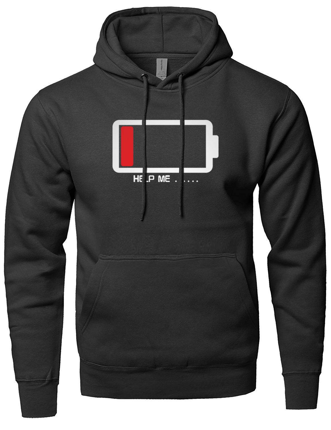 The Batteries Lower Help Me Funny Print Hoodie 2018 Spring Winter Fleece Sweatshirts Fas ...
