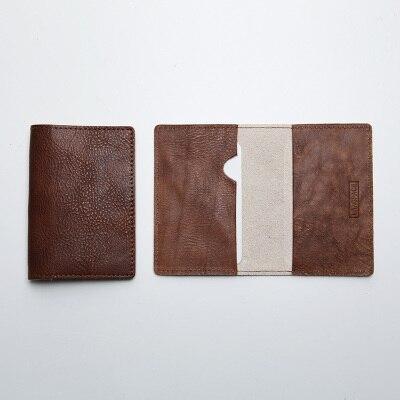 LANSPACE мужской кожаный держатель для карт брендовый маленький чехол для кредитных карт модные держатели для карт - Цвет: Distress Brown