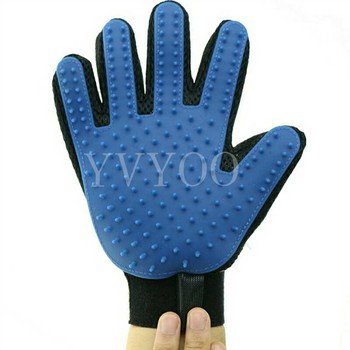 1 Pc Pet Cleaning Brush Dog Massage Hair Removal Grooming Magic Deshedding Glove 1