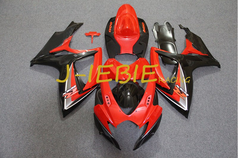 Red Black Injection Fairing Body Work Frame Kit for SUZUKI GSXR 600/750 GSXR600 GSXR750 2006 2007Red Black Injection Fairing Body Work Frame Kit for SUZUKI GSXR 600/750 GSXR600 GSXR750 2006 2007