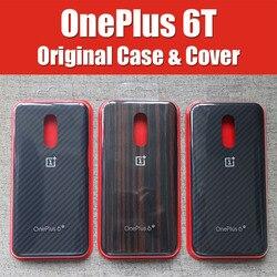 A6013 oficial OnePlus 6 caso original 1 + 6 t OnePlus 6 a medida de piedra arenisca de Nylon Karbon parachoques de cuero flip Cover