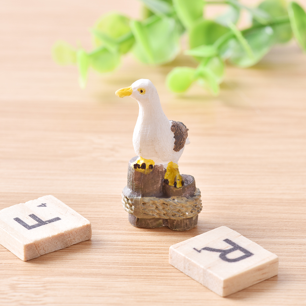 Diy Sea Bird Seagull Stand Stump Miniature Fairy Garden Home Decoration Landscaping Decor Accessories 5cm Figurines Miniatures Aliexpress