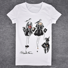 Summer Casual Girls Print  Women T-shirt