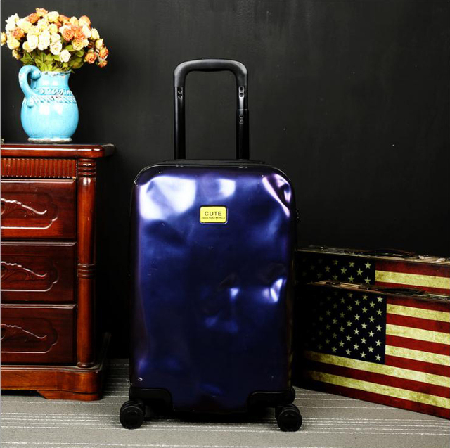 Colorful PC&ABS Aerolite Koffer Trolley Luggage Fashion travel case 20' 24' 28' inches Universal Sliding suitcase mala de viagem