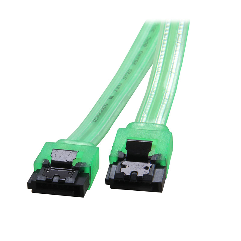 10inch 6Gb/s SATA3 Serial ATA DATA Cable W/ Latch Locking For PC Laptop SATA 3.0 SATAIII 6Gbps HDD Hard Drive Disk/ SSD-UV Green