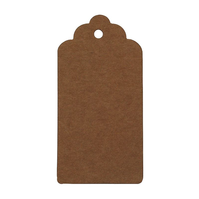 10X5cm Coffee Kraft Paper Tags Scallop Cardboard Label Luggage Wedding Note, DIY Blank price Hang tag,packing accessory-10037740