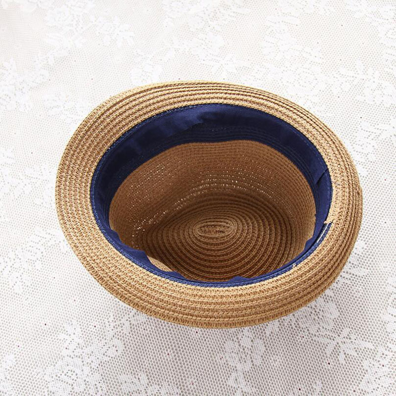 8c7e2c51c39b7 Summer Straw Ladies Hats Women Men Golf Jazz Cap Panama Sun Visor Caps  Saves Beach Hat Headband Outdoor Camping Travel Swimming-in Beach Caps from  Sports ...