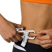 1 PC Personal Body Fat Loss Tester Calculator Caliper Fitness Clip Fat Measurement Tool Slim Chart