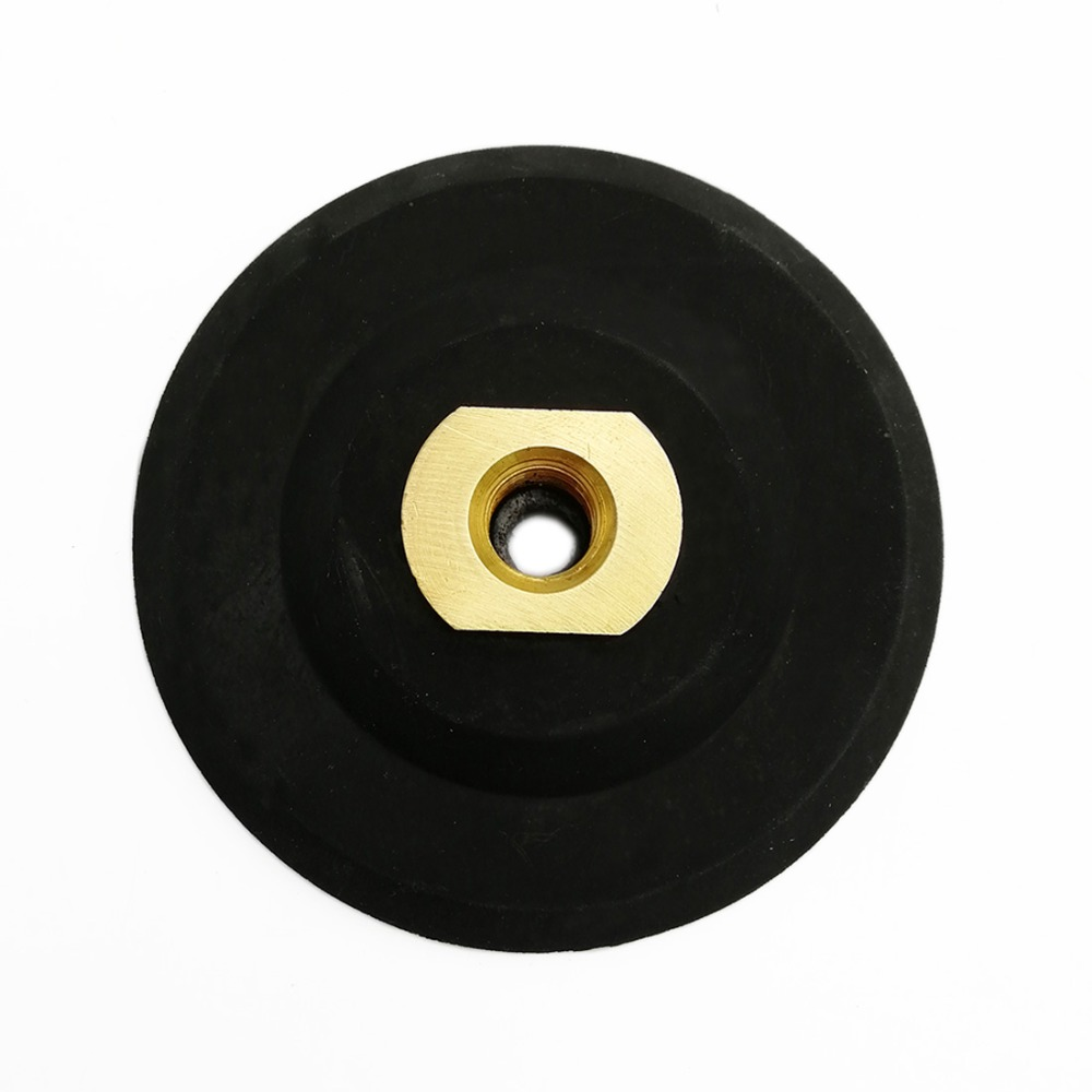 DIATOOL 4 Inch M14 Thread Rubber Backer Sandpaper Holder For Polishing Pads Sanding Pad Disc Soft 100mm Backing Pads