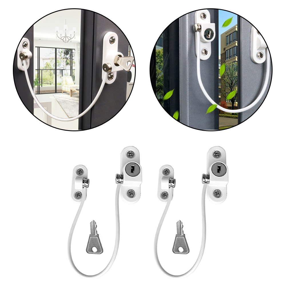 2 Pcs/lot Child Protection Baby Safety Window Lock Infant Security Window Limiter Locks On The Windows Child Safety Child Locks