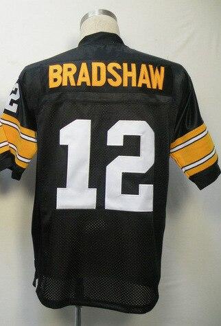 #12 Terry Bradshaw Jersey,Throwback Football Jersey,Sport Jersey,Size M--XXXL,Accept Mix Order