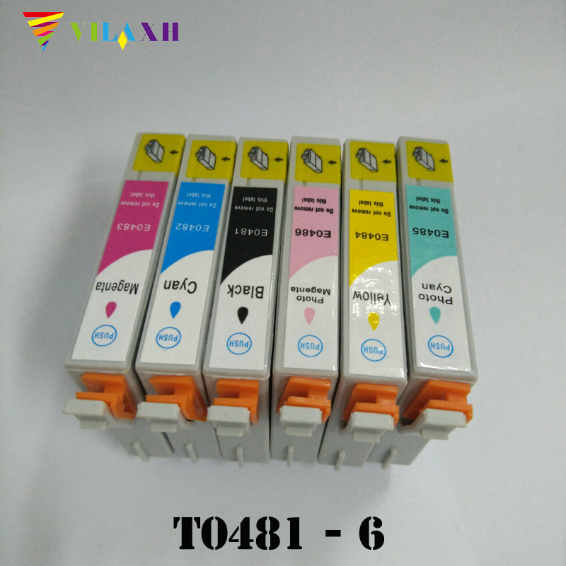 خرطوشة الحبر T0481 لإبسون T0481 - T0486 Stylus Photo R200 R300 R340 R300 R300M R320 RX500 RX600 RX620 RX640 Printer