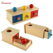 математика развивающие игрушки монтессори игрушки для детей деревянные игрушки детские игрушки развивающие Сфера обучения с ящиком игры красный желтый синий детские учебные пособия деревянный материал