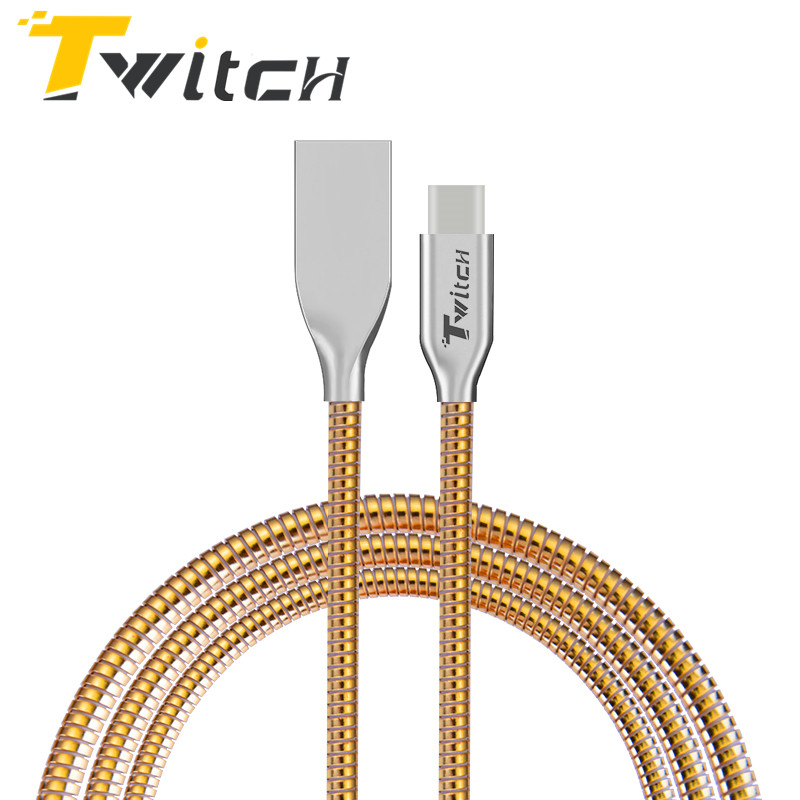 Twitch 2.4A All Metal Type C Charger Cable For Xiaomi mi5 4C Huawei P9 Honor 8 Pro 6 LG Nexus 5 5X Wire Fast Charge USB Type-C