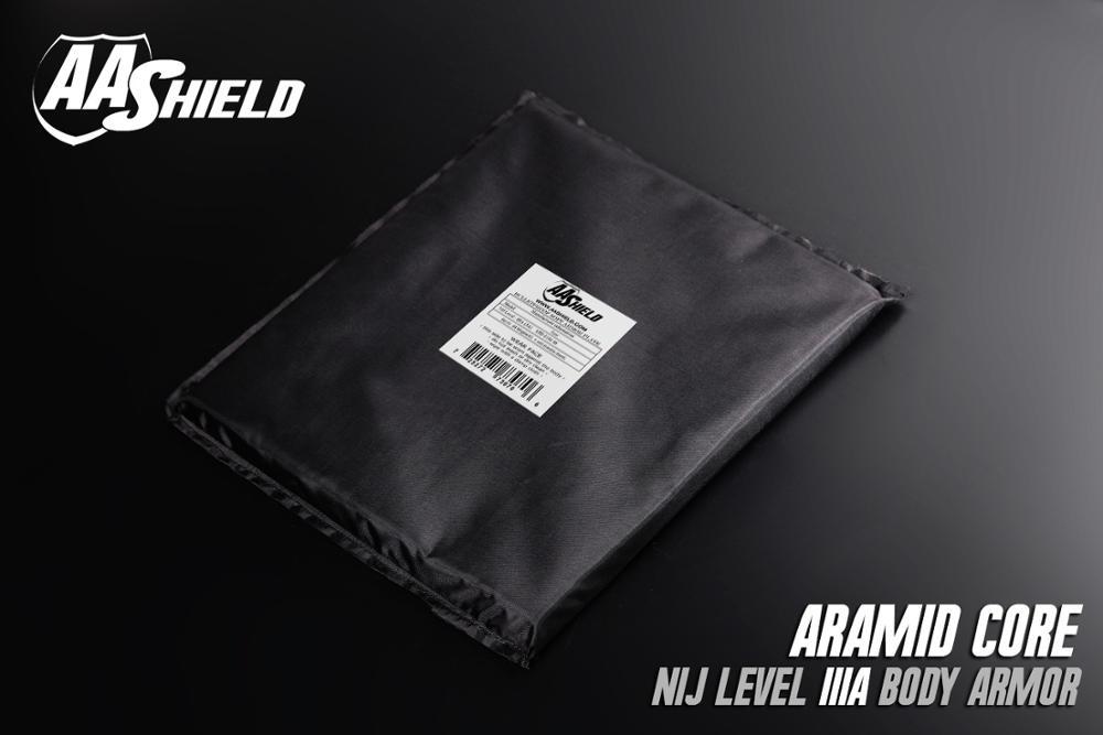 AA Shield Bullet Proof Soft Panel Body Armor Inserts Plate Aramid Core Self Defense Supply NIJ Lvl IIIA 3A 11X14