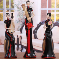 Resin Figurine Folk Art Home Decoration Chinese Traditional Beauty Figurine Home Decor Miniatures Figurine Love Wedding