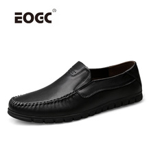 Genuine Leather Shoes Men Summer Breathable Loafers Plus Size Cool Hole Flats Top Quality Cow Casual