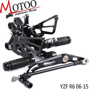 Image 1 - Motoo juego trasero de aluminio CNC completo para motocicleta, para YAMAHA YZF R6 R6 2006 2012
