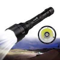 1000 Lm T6 LED Tactical Hunting Flashlight Torch Light +2x3600mAh Battery+Dual Charger+Pressure Switch+ Mount