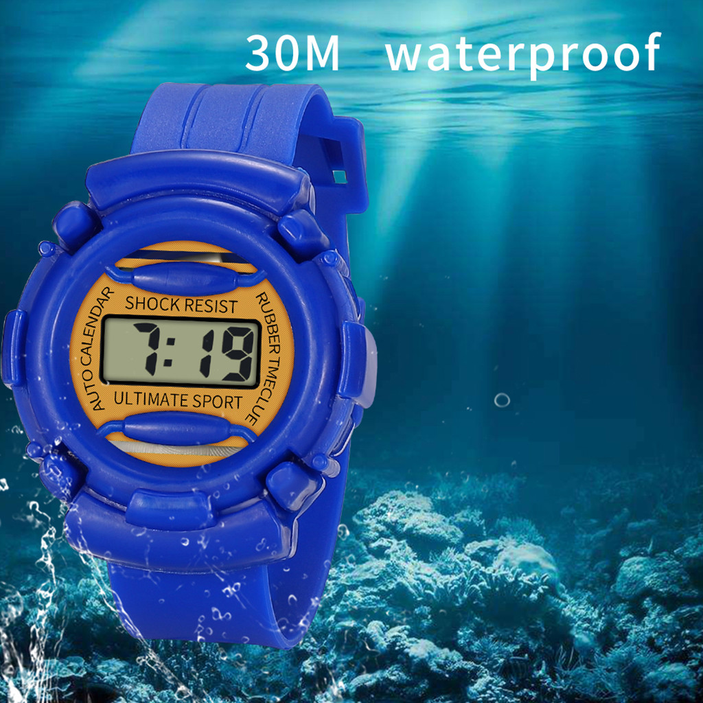 children's watch Children Girls Analog Digital Sport LED Electronic Waterproof Wrist Watch New children's watch for  boys