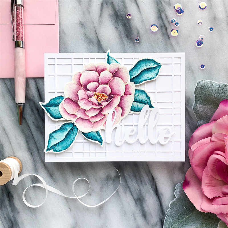 GJCrafts Flower Stamp and Die Sets Cutting Dies New 2019 for Scrapbooking Card Making Album Embossing Crafts Dies Stamp Sets
