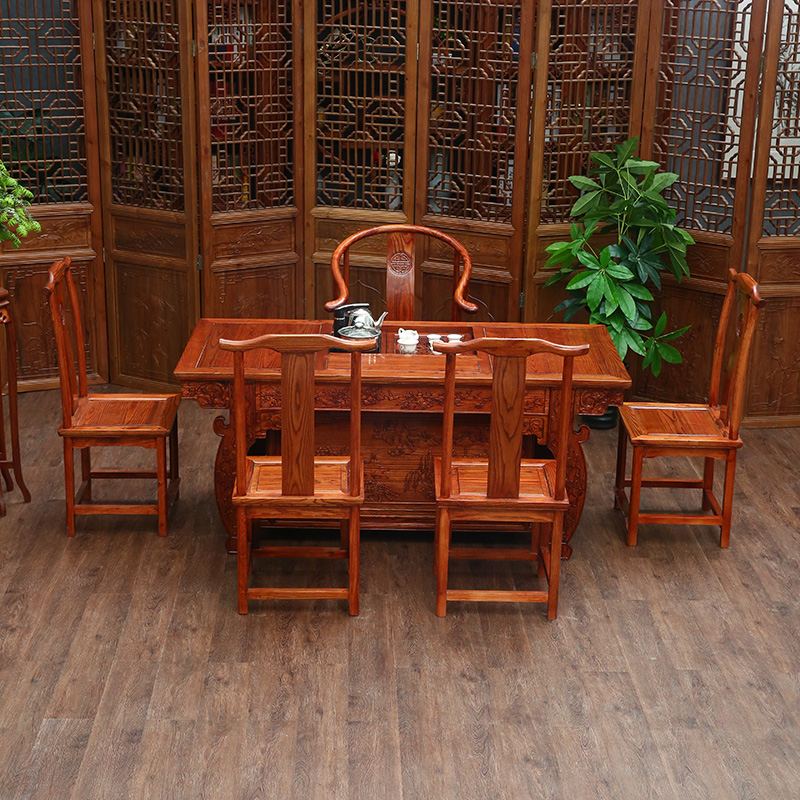 Teaside Chinese Elm Wood Antique Tea Table Coffee Simple Tables And Chairs  Combination Palace End In Coffee Tables From Furniture On Aliexpress.com ...