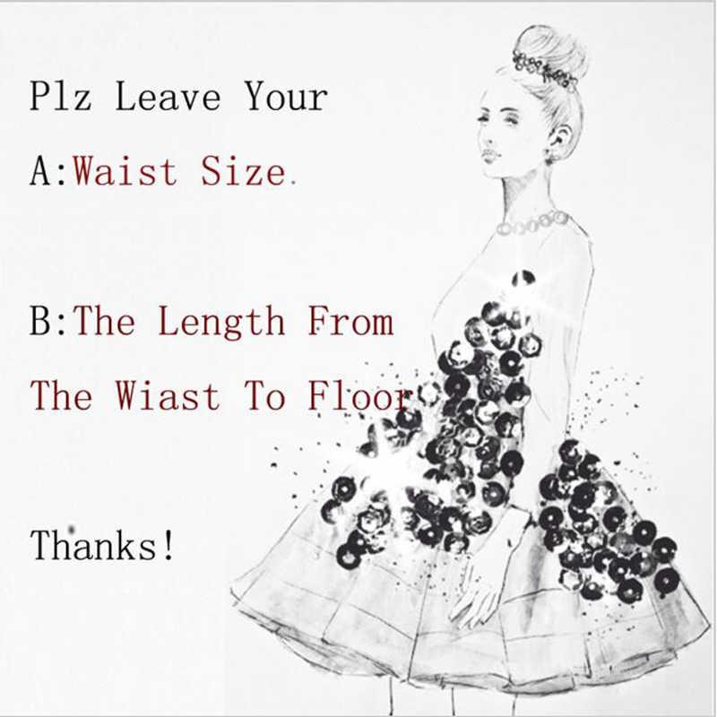 ゴージャスな2017シックなフリルオーガンジーマーメイドロングスカートセクシーな床の長さのカスタムメイドスカート女性のためにパーティーティアードシャーリング