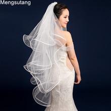 Wedding-Veil Multi-Layer Short Satin Fish-Bone