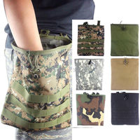 Tactical Adjustable Foldable Molle Recovery Paintball Magazine Mag Dump Pouch