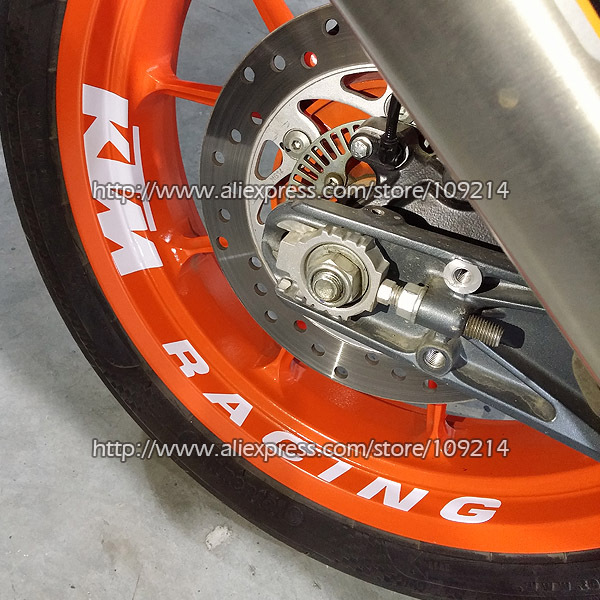 Hot sale Racing Duke 200/390/690/990/1290/RC8/RC390 1090 1190 1290 motorcycle wheel Sticker Decals Waterproof Reflective 20 motorcycle front rider seat leather cover for ktm 125 200 390 duke