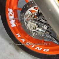 Hot Sale KTM Racing Motorcycle Wheel Sticker Decals Waterproof Reflective 20