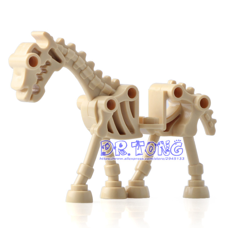 DR TONG 20pcs/lot Skeleton Horse Medieval Castle Knights Skeleton Knights Building Bricks Blocks Toys Children Gifts dr tong 20pcs lot pg1049 super hero