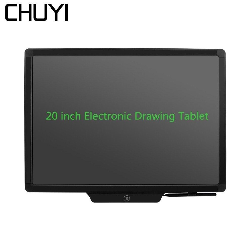 CHUYI 20 pouce Tablette Graphique Tableau Électronique LCD Écriture Bloc-Notes Portable Bloc-Notes Dessin Tablette avec Stylet