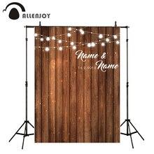 Allenjoy fondos de boda para estudio de fotografía tablero de madera fiesta personalizar diseño original telón de fondo profesional sesión fotográfica